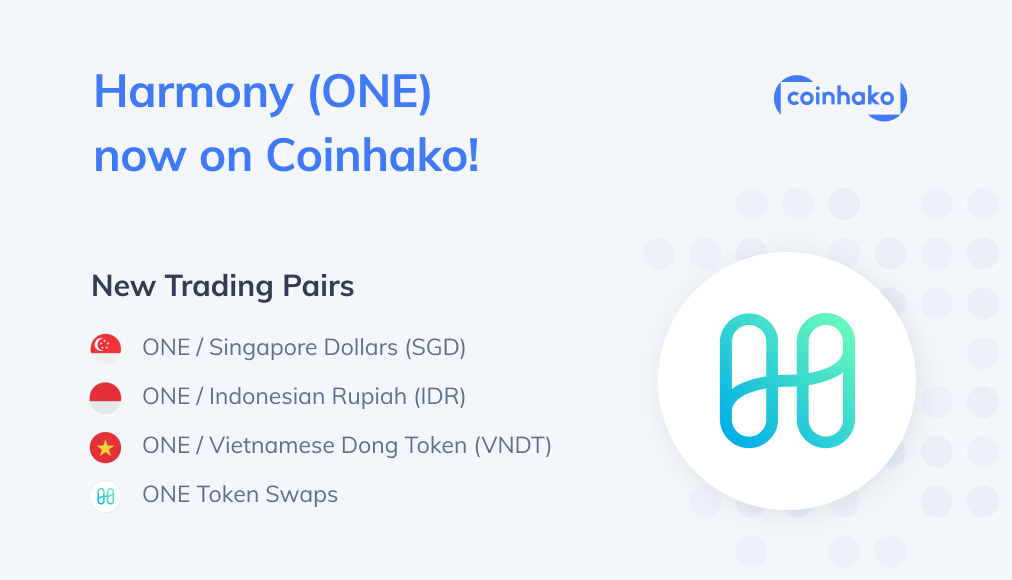 Introducing Harmony (ONE) on Coinhako!
