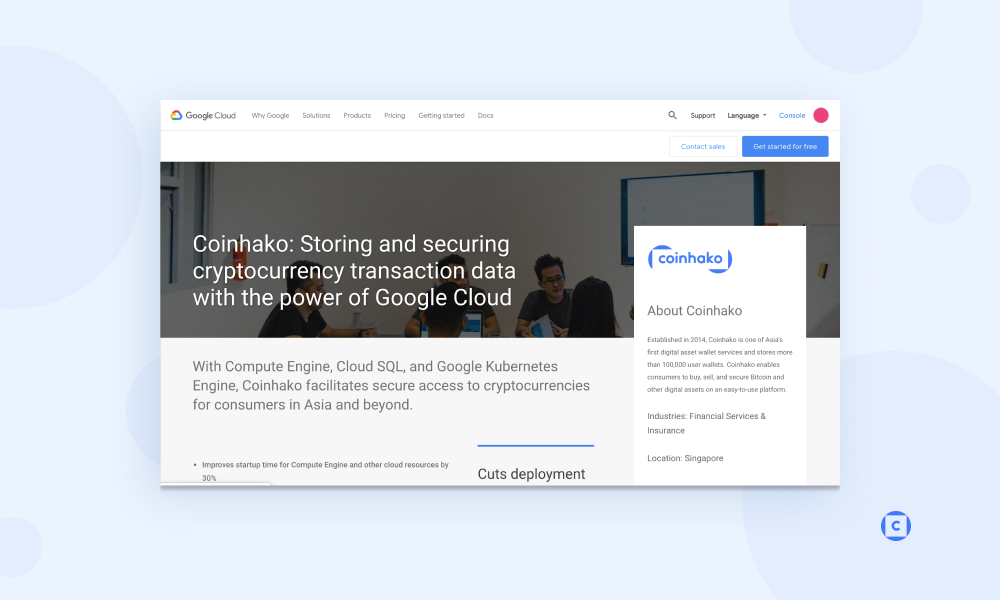 Coinhako is now on Google Cloud for storing and securing transaction data!