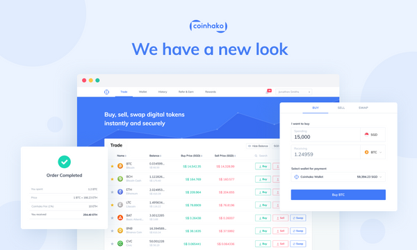 New Web User Interface (UI): Trading Bitcoin (BTC) & Crypto Made Easier at Coinhako!