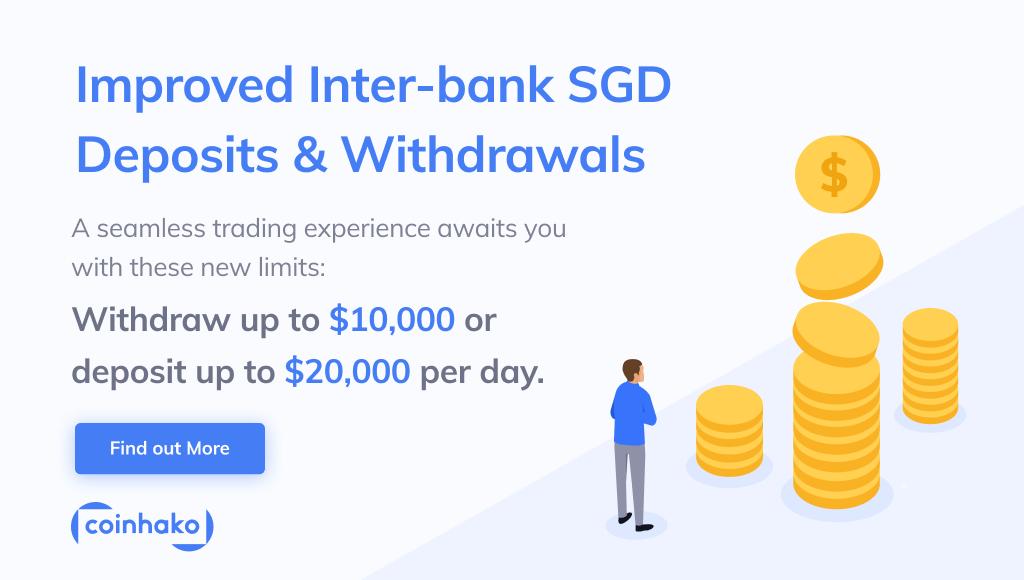 Buy Bitcoin With Singapore Dollars With Improved Inter-bank Deposit and Withdrawal Limits At Coinhako