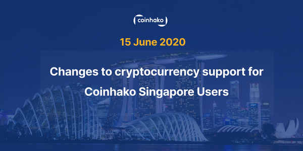 Token Delistings & Reduction in services, 15 June 2020, for Coinhako Singapore